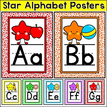 Star Theme Alphabet Posters