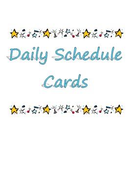 Star Theme Daily Schedule
