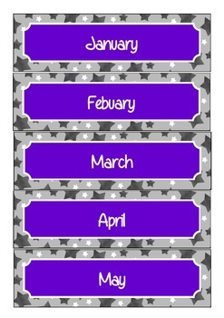 Star Theme Months