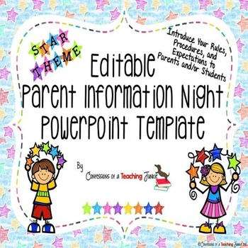Star Theme Parent Information Night Power Point Template