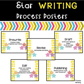 Writing Process Posters-Star Theme