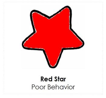 Star Themed Behavior Clip Chart AND Take Home Chart VER 2