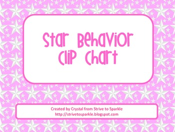 Star Themed Behavior Clip Chart **FREE**