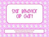Star Themed Behavior Clip Chart **FREE**