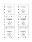 Star Themed Behavior Incentive Punch Card Template
