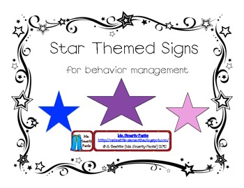 Star Themed Behavior Signs