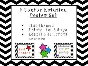 Star Themed Center Posters