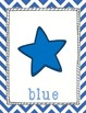 Star Themed Chevron Color Posters