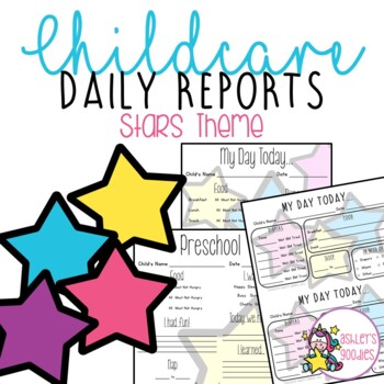 Star Themed Childcare Daily Reports  (Daycare)