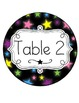 Star Themed Circular Table Signs