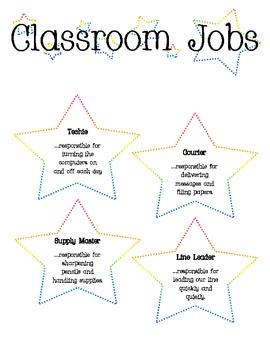 Star Themed Classroom Jobs