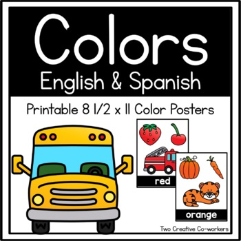 Color Word Cards in English & Spanish {Star Themed}