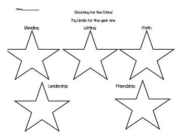 Star Themed Goal Setting Sheet