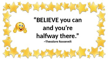 Star Themed Motivational Classroom Posters