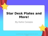 Star Themed Name Plates (Editable)