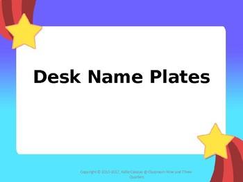 Star Themed Name Plates (Editable)