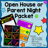 Star Themed Open House or Parent Night Documents