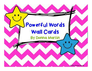 Star Themed Powerful Words Cards