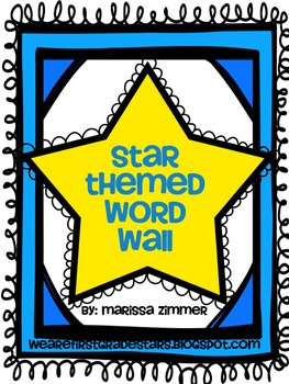 Star Themed Reach for Reading Word Wall