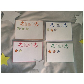 Star Themed Team Cards