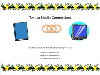 Star Themed Text Connections Poster