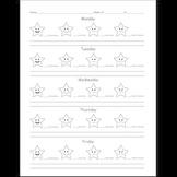Star Themed Weekly Behavior Evaluation Sheet