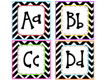 Star Themed Word Wall Alphabet