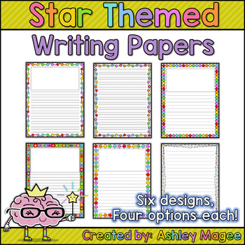 Star Themed Writing Papers
