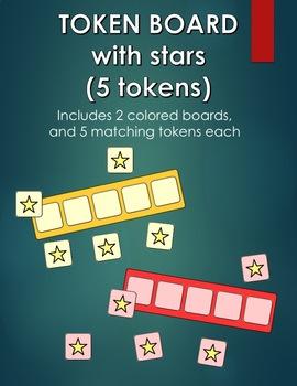 Star Token Board - 5 tokens