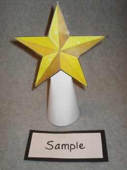 Star Topper for a Christmas Tree Fun Art Craft