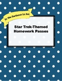 Star Trek-Themed Homework Passes