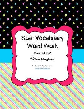 Star Vocabulary Worksheet