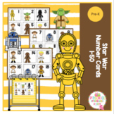 Star War Number Cards 1-50