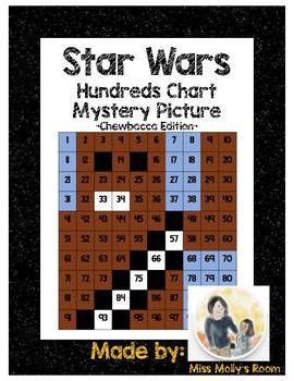 Star Wars 100s Chart Mystery Picture, K.CC.B4, 1.NBT.B2, 1.NBT.C5 Chewbacca
