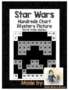 Star Wars 100s Chart Mystery Picture, K CC B4, 1 NBT B2, 1 NBT C5 Darth  Vader