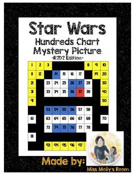Star Wars 100s Chart Mystery Picture, K.CC.B4, 1.NBT.C5 R2D2