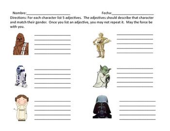 Star Wars 3 Actividades para la clase de espanol