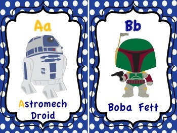 Star Wars ABC Cards