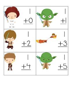 Star Wars Addition Flash Cards