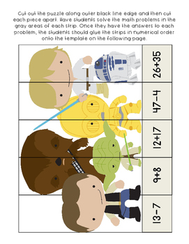 Star Wars Addition & Subtraction Math Worksheets