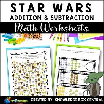Star Wars Addition & Subtraction Math Worksheets