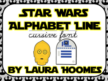 Star Wars Alphabet Line Cursive
