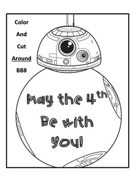 Star Wars BB8 May the 4th Be With You Hat