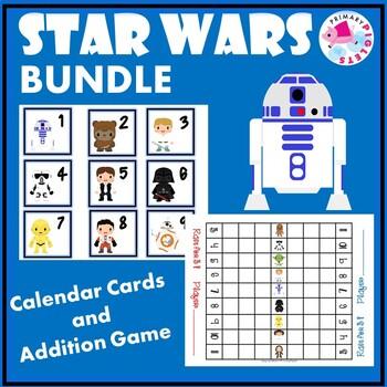 Star Wars BUNDLE of Addition Game & Calendar Cards