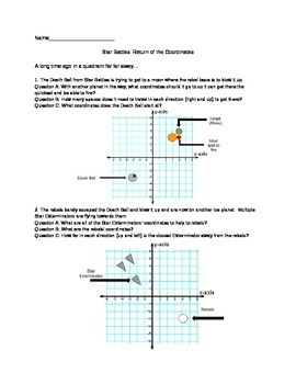 Star Wars/Battles Coordinate Worksheet