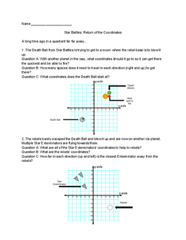 Star Wars/Battles Coordinate Worksheet Updated with The Fo