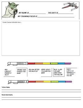 Star Wars Behavior Folder Behavior Chart