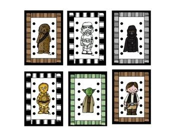 Star Wars Behavior Punch Cards