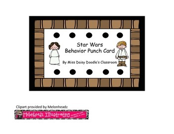 Star Wars Behavior Punch Cards