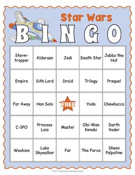 Star Wars Bingo Game